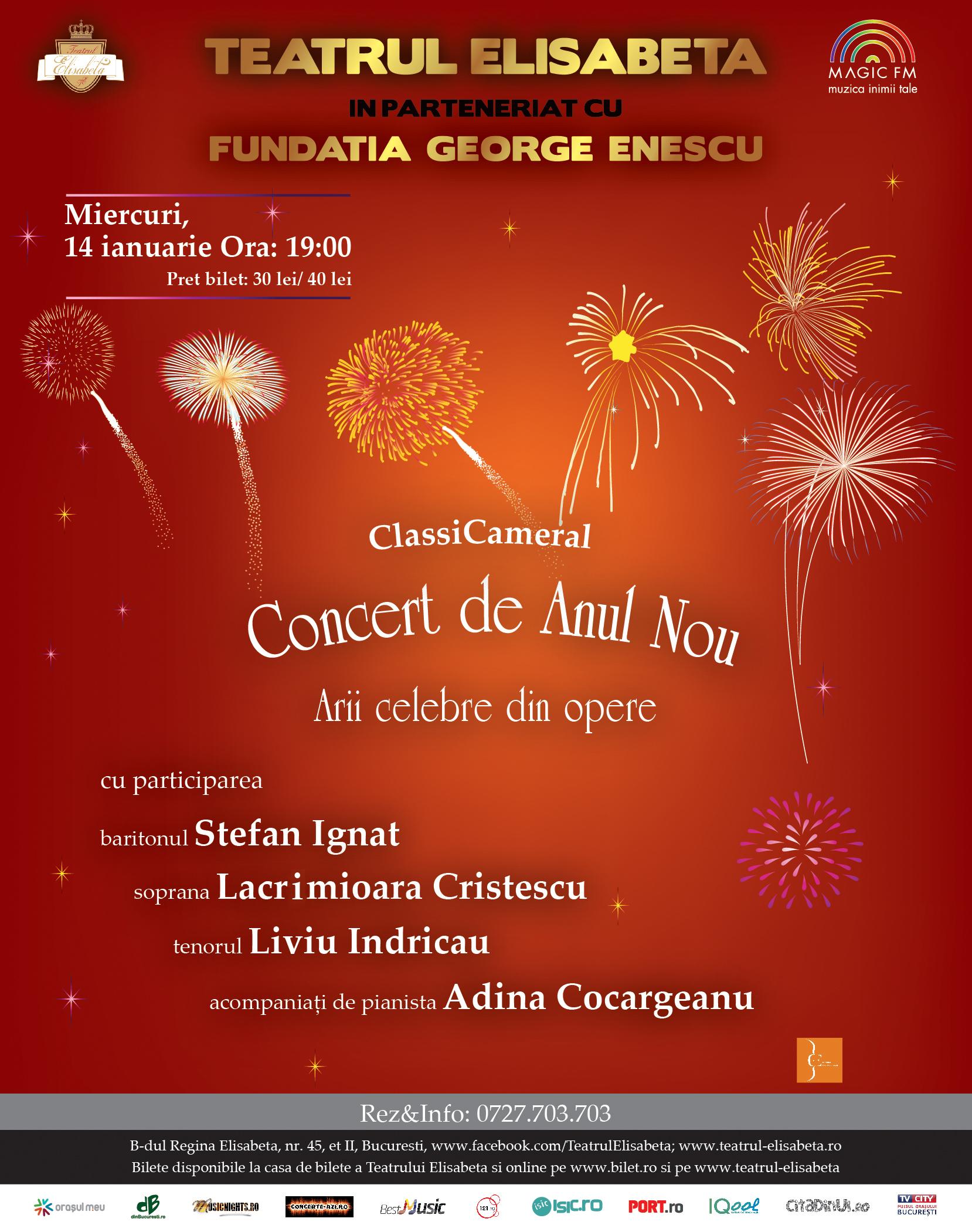 Afis 50x70 cm ClassiCameral Concert de Anul Nou